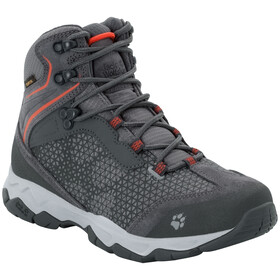 Jack Wolfskin Rock Hunter Texapore Middelhoge Schoenen Dames, pebble grey/orange